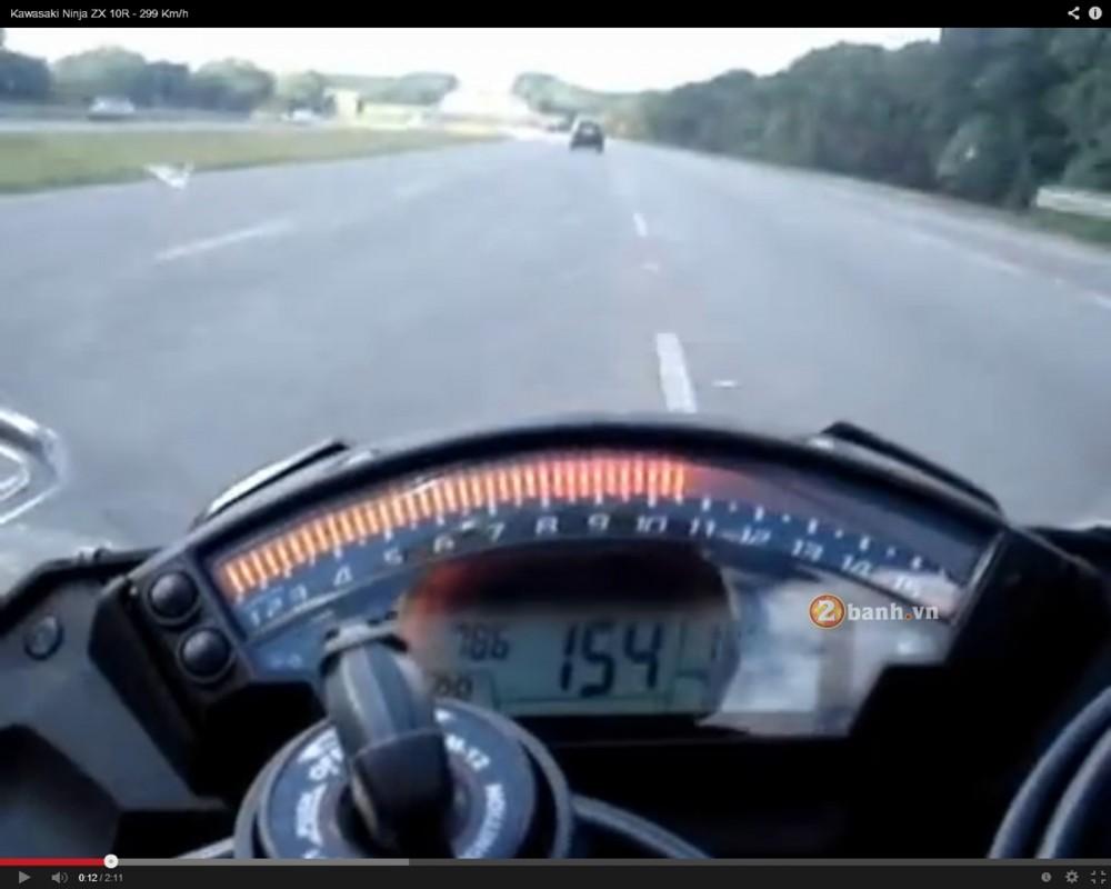 Qua trinh len top speed 299kmh cua Kawasaki ZX10R - 2