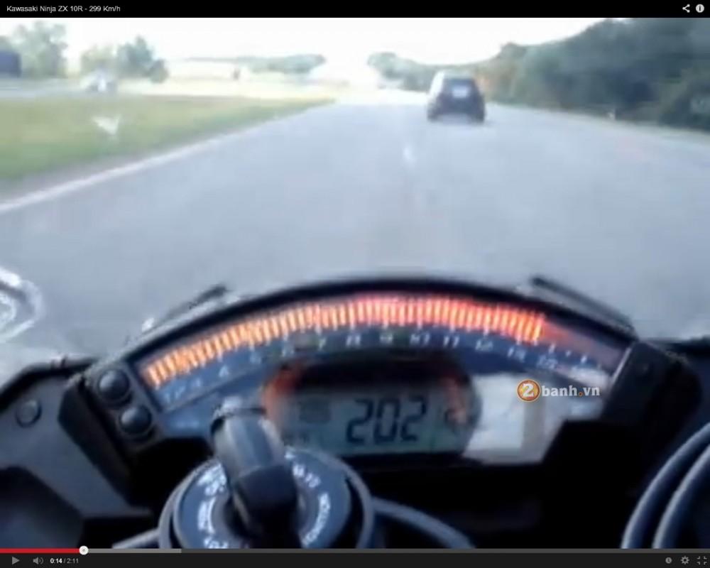 Qua trinh len top speed 299kmh cua Kawasaki ZX10R - 3