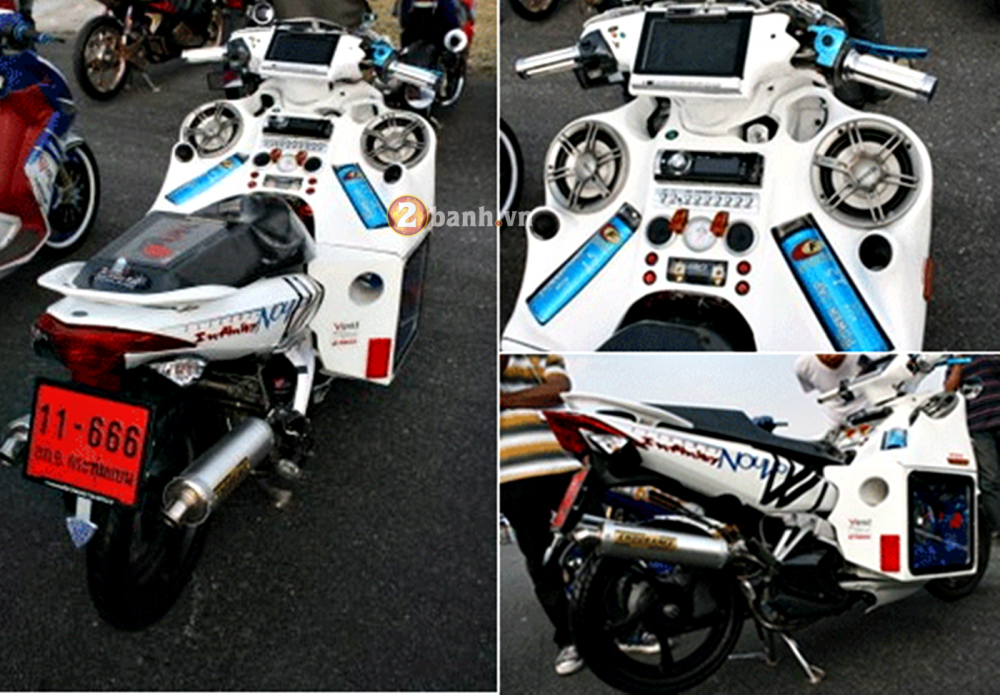 Yamaha Nouvo LX trung tam giai tri mini - 5