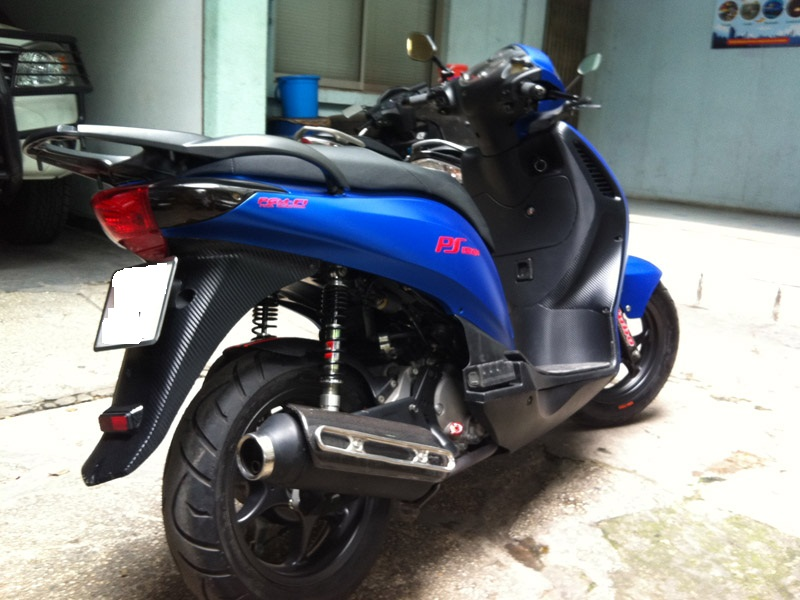 Honda PS xanh duong nham do khung - 3