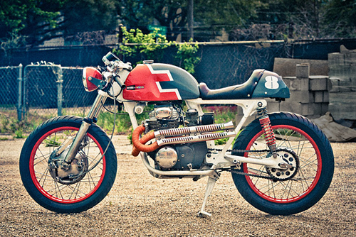 Honda CB350 cafe racer voi mot phong cach la lam - 2