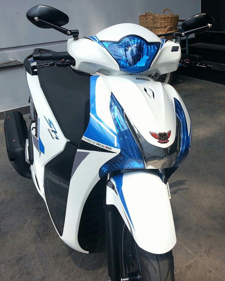 Honda SH 150i trang xanh ca tinh - 2
