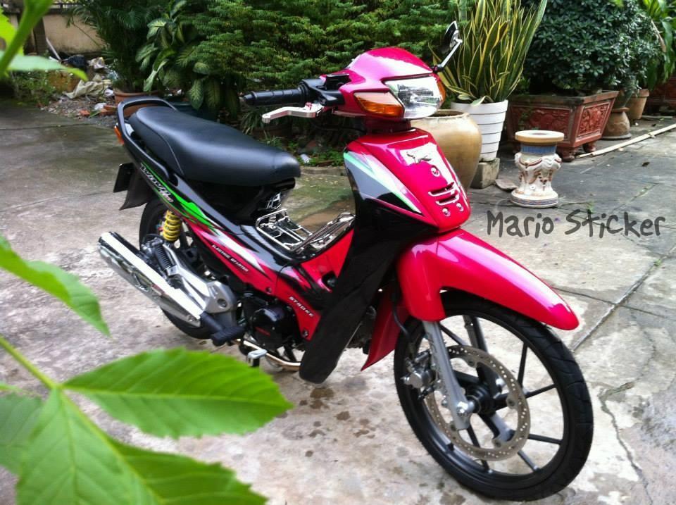 Honda wave do phien ban hoa hong den - 4