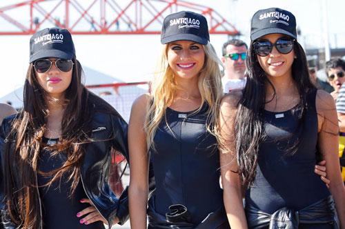 Nguoi dep khoe dang trong MotoGP 2014 tai Argentina
