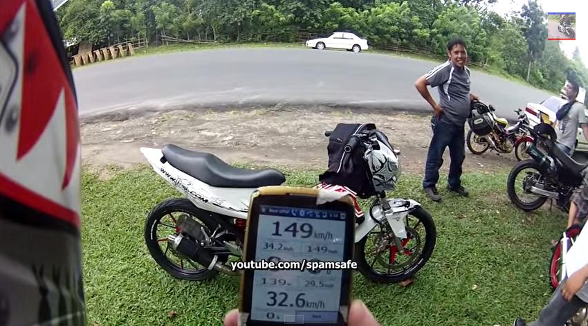 Raider 150 banh mam vs banh cam 149kmh GPS