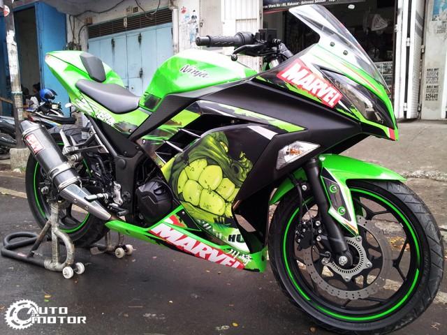 Vai con Kawasaki Ninja 250r do nhe