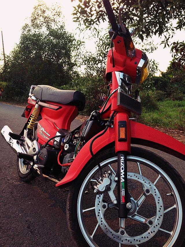 Honda dream do do kieng dinh cao chu chat - 2