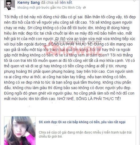 Kenny Sang SH cung khong co cua de toi buoc len - 2