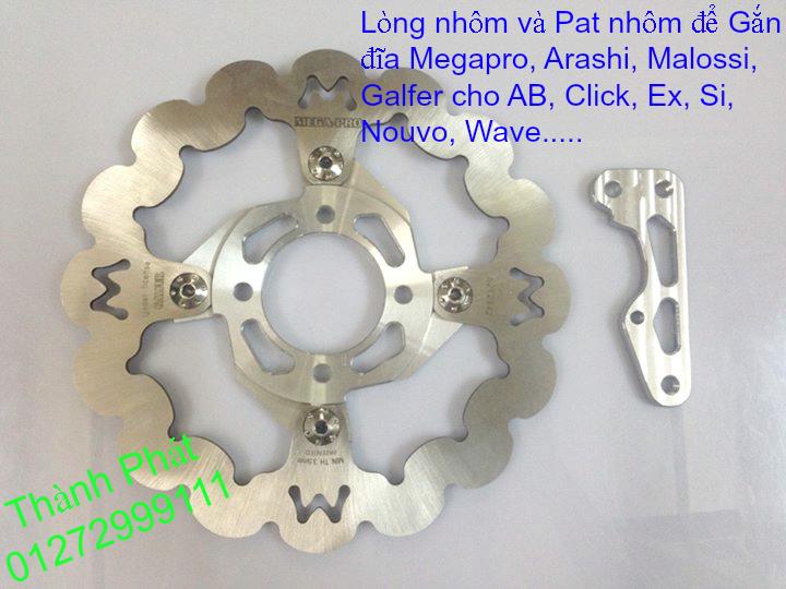 Dia kieu Thai dia Phay CNC YA Z CBR Biker Galfer ARASHI MegaPro Malossi Breaking NCY Ap - 16
