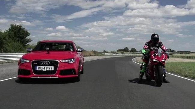 Ducati 1199 Panigale R vuot troi hon han so voi xe Audi RS 6