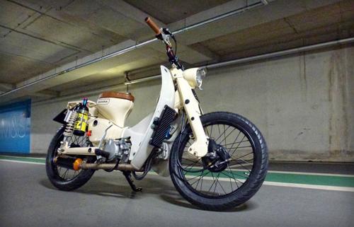 Honda Cub Dong co khung voi 24 ma luc