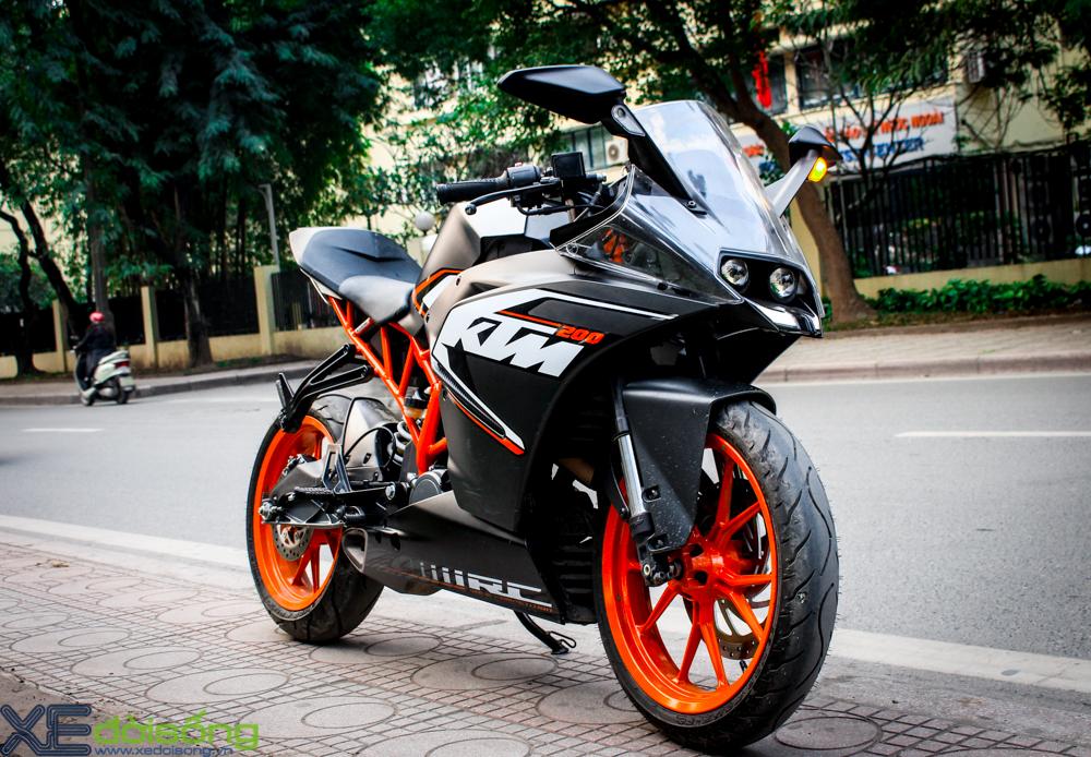 Can canh KTM RC200 chiec mo to gia re dau tien tai Ha Noi - 16