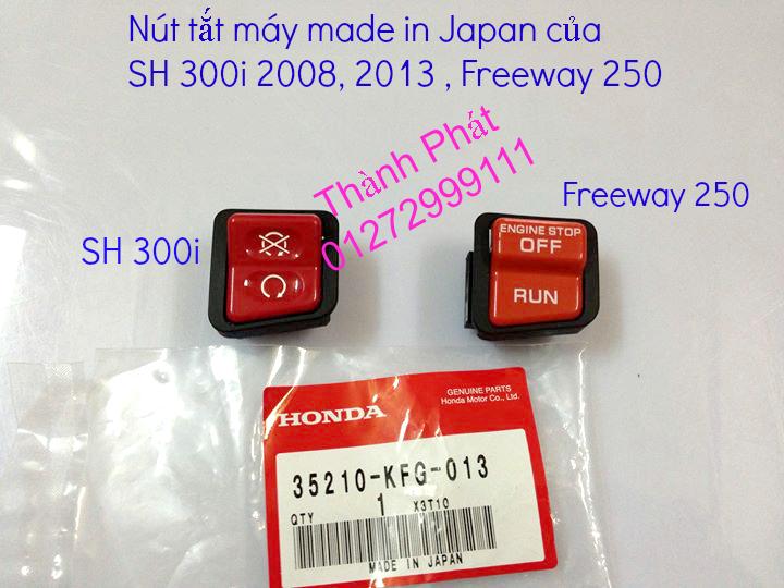 Chuyen phu tung zin Do choi xe SH 300i 2008 SH300i 2013 Freeway 250 nut tat may SH 300i Bao t - 11