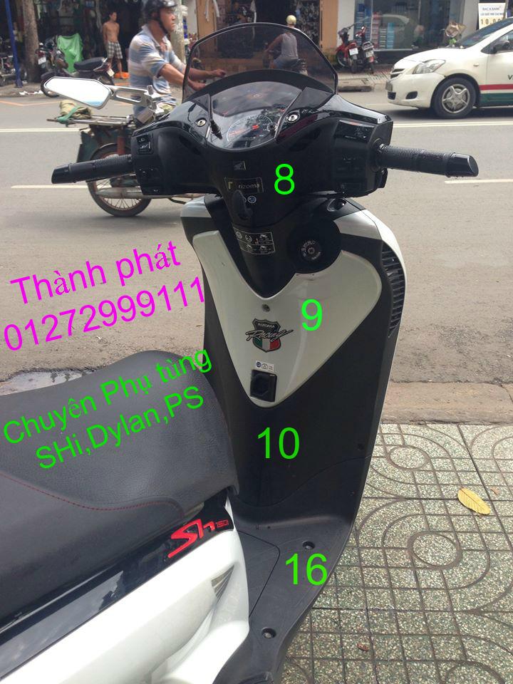 Chuyen Phu tung zin Do choi xe SHi150 2002 2013 Dylan PS - 5