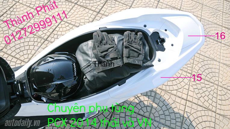 Chuyen Phu tung Zin Honda PCX Thailan va VN doi 2011 doi 2014 day du het do mu va do may Gia tot u - 3