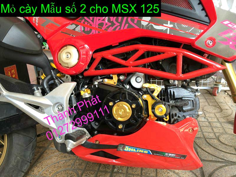 Do choi Honda MSX 125 tu A Z Po do Kinh gio Mo cay Chan bun sau de truoc Ducati Khung suo - 37