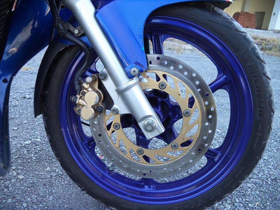 Honda NSR 150 xanh GP tem dau cuc ngau - 4