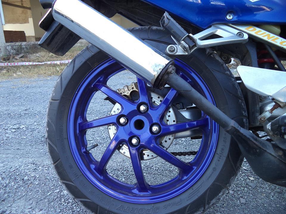 Honda NSR 150 xanh GP tem dau cuc ngau - 5