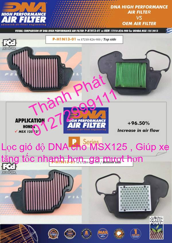 Loc gio do Loc dau DNA KN BMC cho xe Shi150 SH300 Shi VN Dylan PS PCX MSX125 KTM AB CL - 16