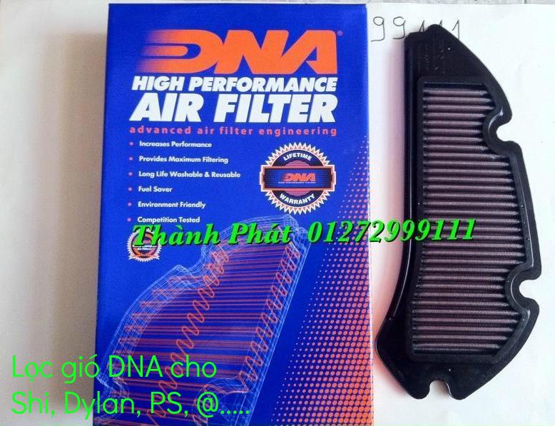 Loc gio do Loc dau DNA KN BMC cho xe Shi150 SH300 Shi VN Dylan PS PCX MSX125 KTM AB CL