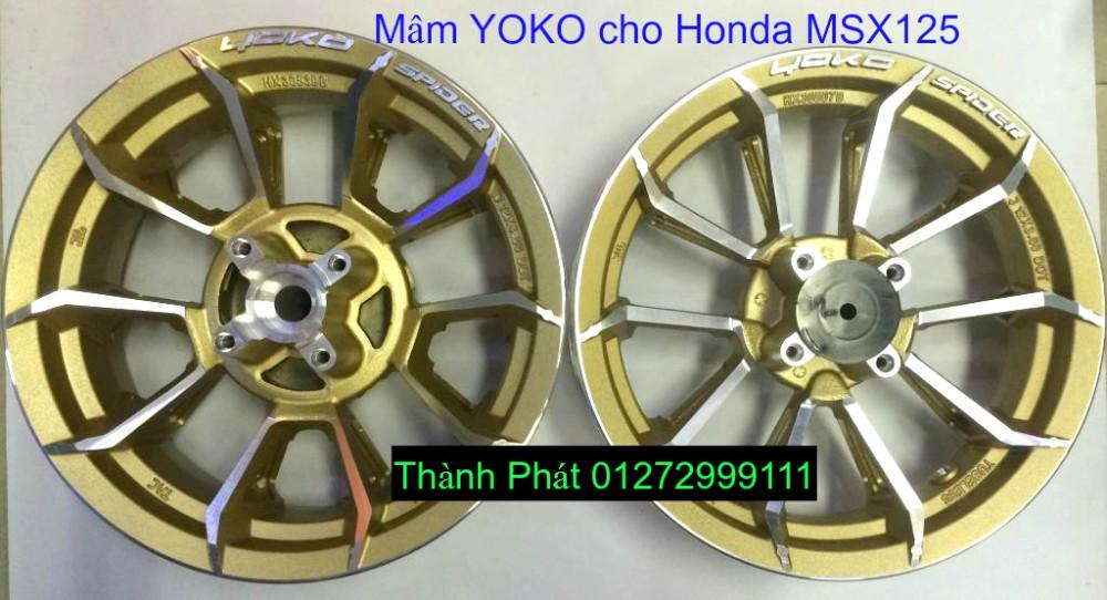 Do choi Honda MSX 125 tu A Z Po do Kinh gio Mo cay Chan bun sau de truoc Ducati Khung suo - 43