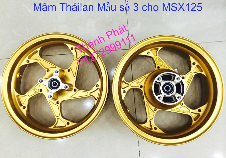 Do choi Honda MSX 125 tu A Z Po do Kinh gio Mo cay Chan bun sau de truoc Ducati Khung suo