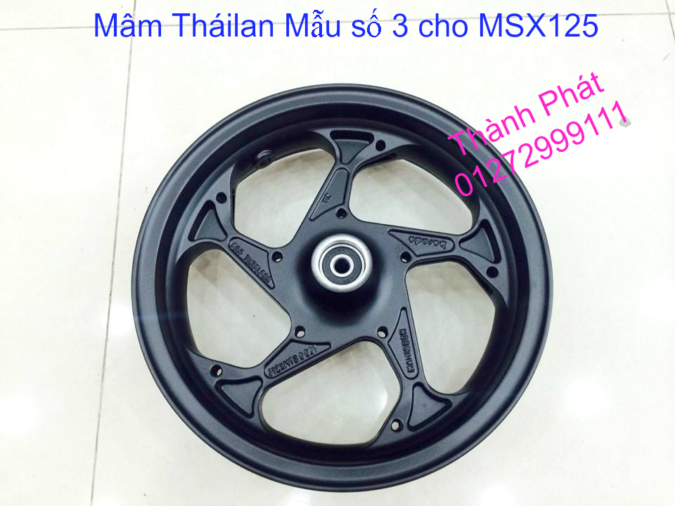Do choi Honda MSX 125 tu A Z Po do Kinh gio Mo cay Chan bun sau de truoc Ducati Khung suo - 3