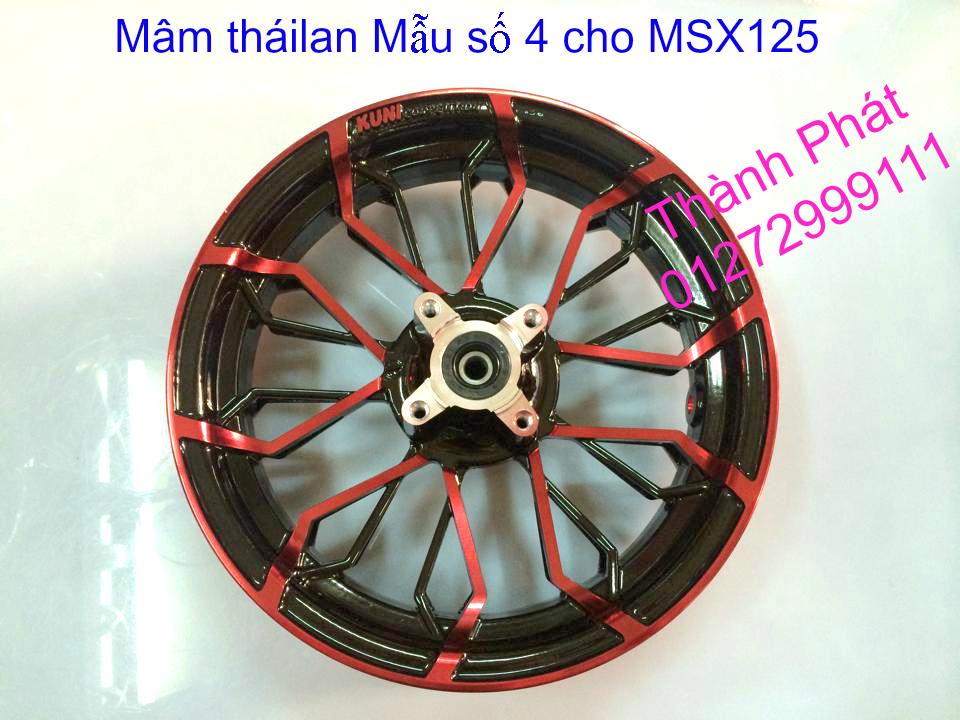 Do choi Honda MSX 125 tu A Z Po do Kinh gio Mo cay Chan bun sau de truoc Ducati Khung suo - 5