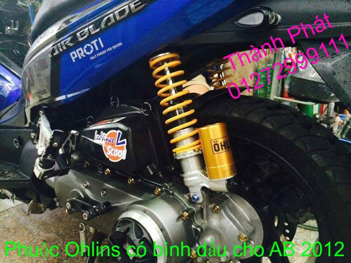 Phuoc Ohlins Fake co binh dau cho Shi Dylan PS AB Nouvo PCX Mio Vision Click i 125 SH Mode - 4
