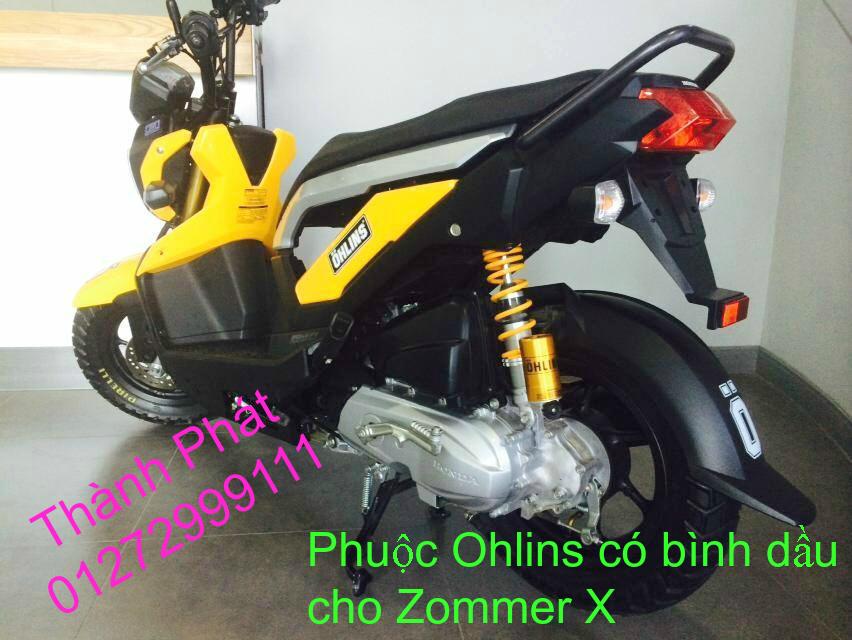 Phuoc Ohlins Fake co binh dau cho Shi Dylan PS AB Nouvo PCX Mio Vision Click i 125 SH Mode - 11