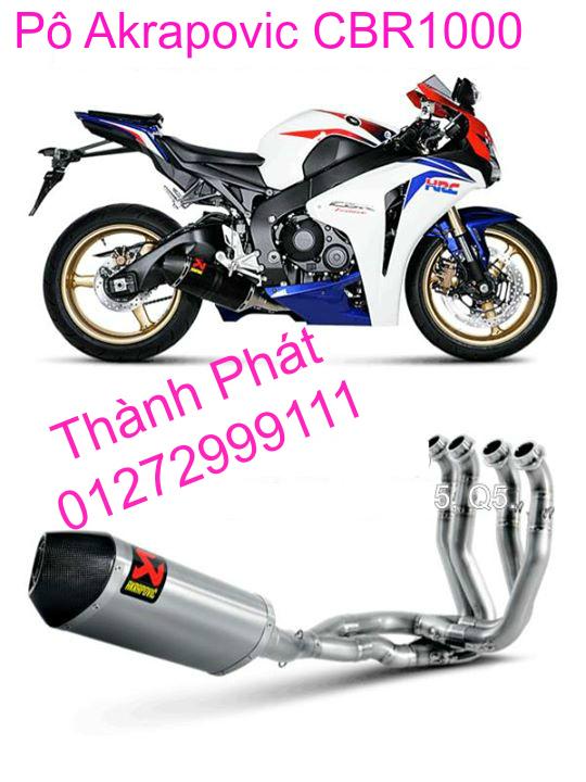 Po Akrapovic Hang Chinh Hang Cho Z1000 Z800 Ninja 300 BMW S1000R CBR1000 CB1000 R1 R6 - 9