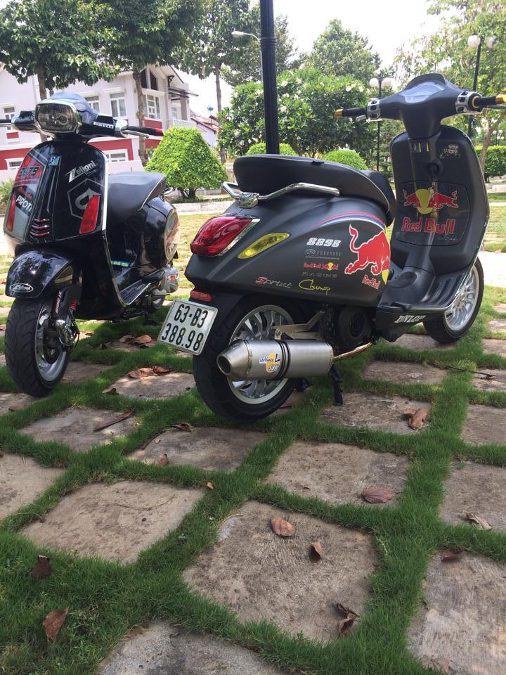 Cap doi Vespa Sprint do phong cach tai Tien Giang