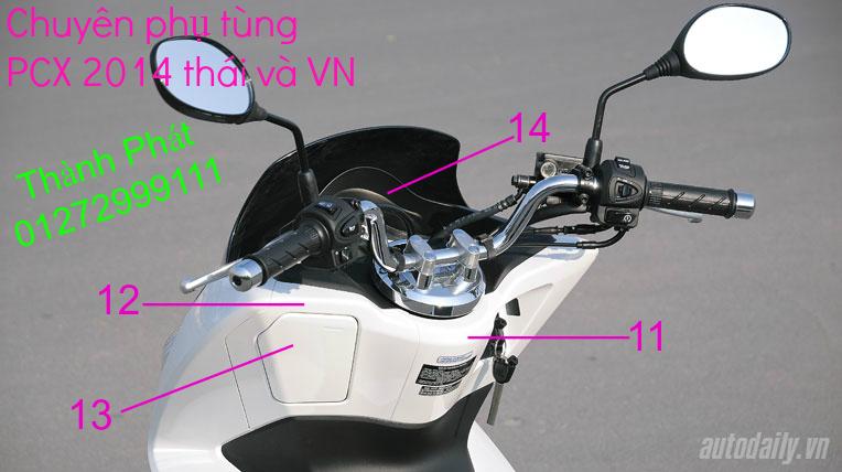 Chuyen Phu tung Zin Honda PCX Thailan va VN doi 2011 doi 2014 day du het do mu va do may Gia tot u - 2