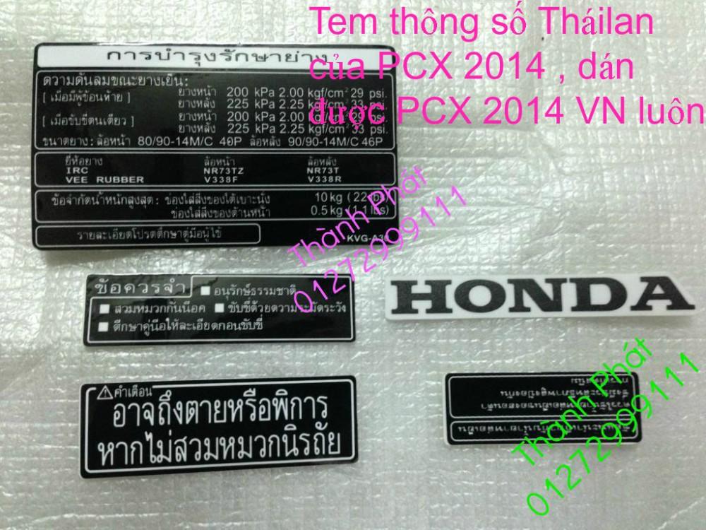 Chuyen Phu tung Zin Honda PCX Thailan va VN doi 2011 doi 2014 day du het do mu va do may Gia tot u - 49