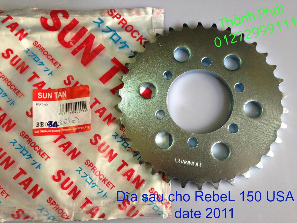 Chuyen phu tung zin va Sen Nhong Dia Honda CB250 CB125 RebeL LA 250 CD125 Yamaha Virago - 42