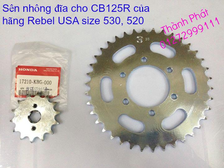 Chuyen phu tung zin va Sen Nhong Dia Honda CB250 CB125 RebeL LA 250 CD125 Yamaha Virago - 44