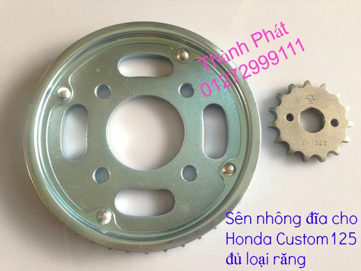Chuyen phu tung zin va Sen Nhong Dia Honda CB250 CB125 RebeL LA 250 CD125 Yamaha Virago - 9