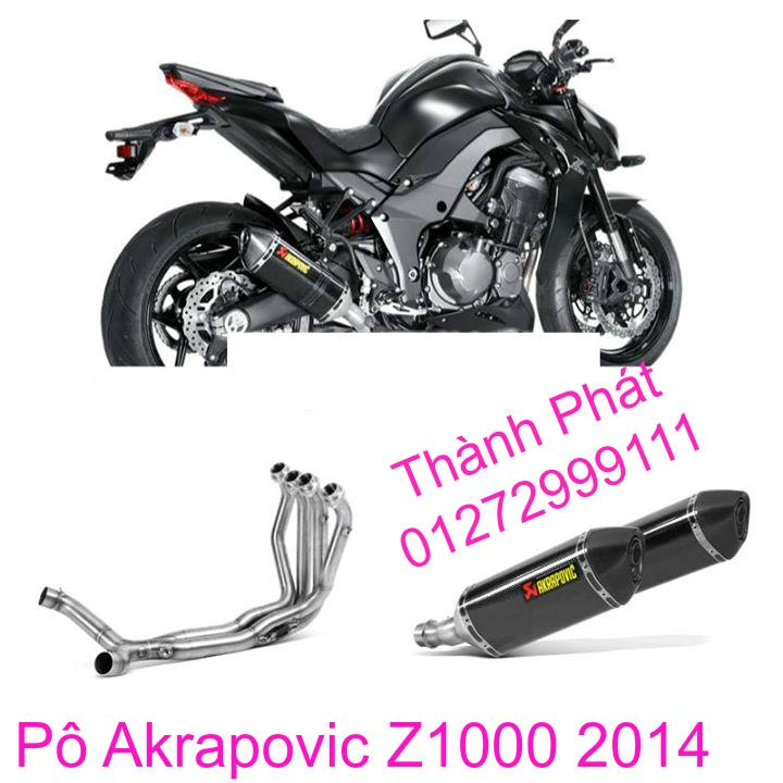 Po Akrapovic Hang Chinh Hang Cho Z1000 Z800 Ninja 300 BMW S1000R CBR1000 CB1000 R1 R6 - 6