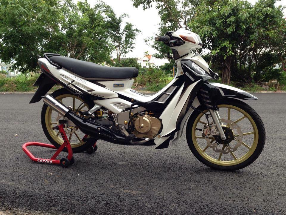 Satria 2000 do phong cach chat choi cua biker Kien Giang