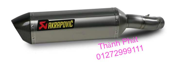 Bo AKAPOVIC cho SH150 SH300 CBR150 FZ16 R15 cac loai xe PKL CB1000 CBR1000 Z1000 ZX10R R6 - 17