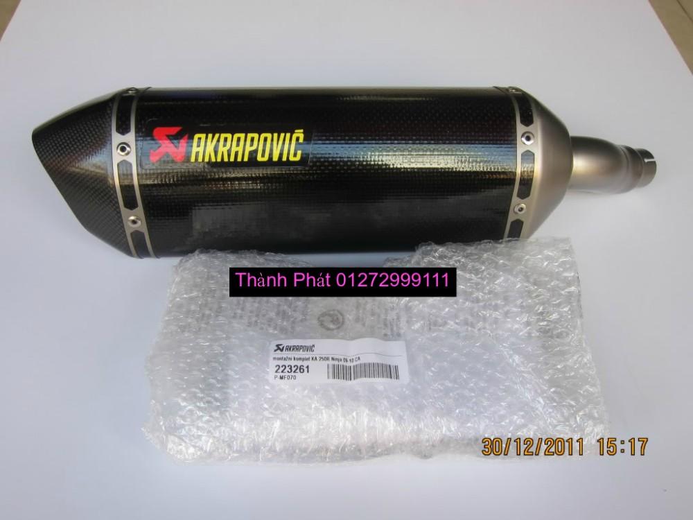 Bo AKAPOVIC cho SH150 SH300 CBR150 FZ16 R15 cac loai xe PKL CB1000 CBR1000 Z1000 ZX10R R6 - 29