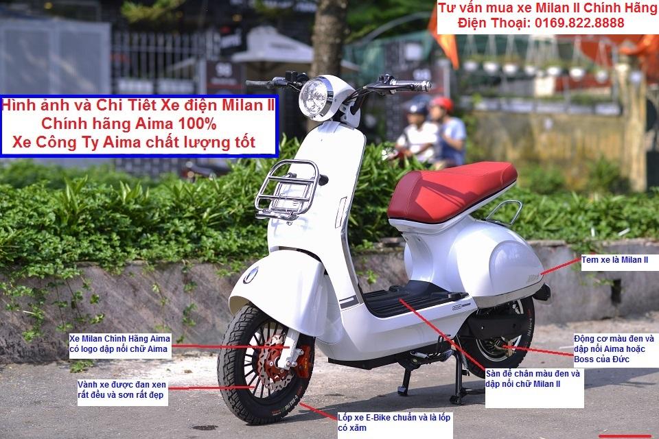 Cong Ty Xe Dien Phu Sy Chia se Kinh Nghiem chon mua Xe Dien AIMA MILAN II Chinh Hang 100 - 2