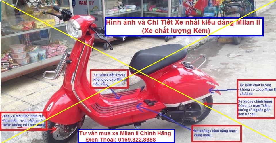 Cong Ty Xe Dien Phu Sy Chia se Kinh Nghiem chon mua Xe Dien AIMA MILAN II Chinh Hang 100 - 5