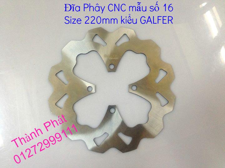 Dia kieu Thai dia Phay CNC YA Z CBR Biker Galfer ARASHI MegaPro Malossi Breaking NCY Ap - 12