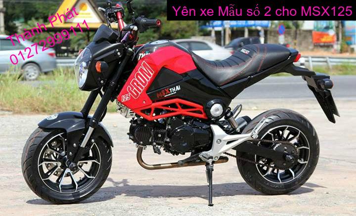 Do choi Honda MSX 125 tu A Z Po do Kinh gio Mo cay Chan bun sau de truoc Ducati Khung suo - 21