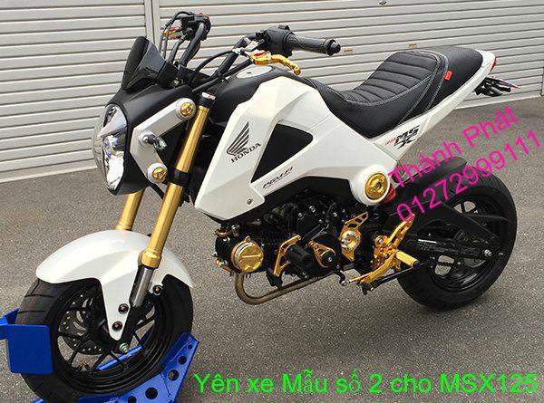 Do choi Honda MSX 125 tu A Z Po do Kinh gio Mo cay Chan bun sau de truoc Ducati Khung suo - 22