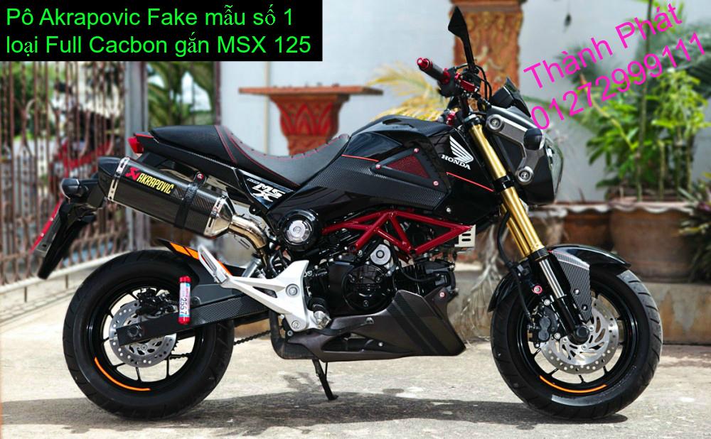 Do choi Honda MSX 125 tu A Z Po do Kinh gio Mo cay Chan bun sau de truoc Ducati Khung suo - 24