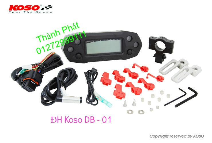 Dong ho KOSO Mio Dream SH X1R Ex 2013 2010 RX1N RX2 RX2N Koso DB03R DH Vapor va Minif - 14