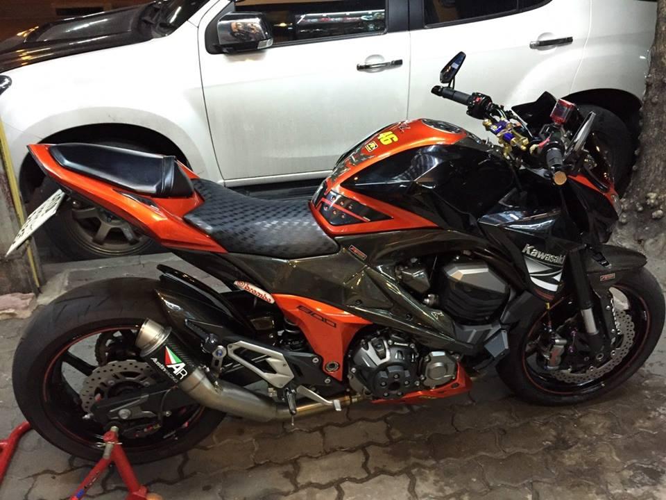 Kawasaki Z800 do ham ho khoe dang tai Thai Lan