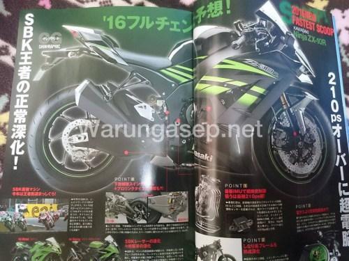 Lo anh Kawasaki ZX10R 2016 tren tap chi Nhat Ban